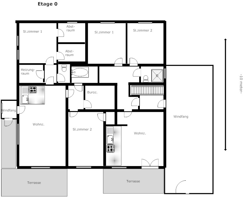 Huis te koop sauerland plattegrond for Plattegrond woning
